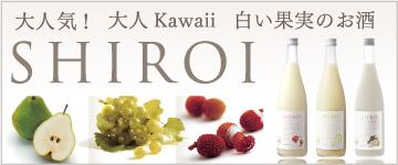 大人気 大人Kawaii 白い果実のお酒 SHIROI