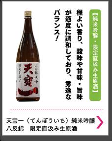 天宝一(てんぽういち)純米吟醸 八反錦 限定直汲み生原酒