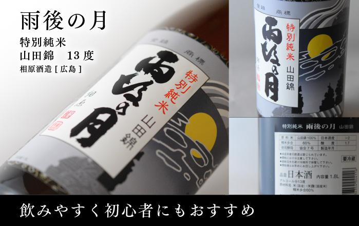 日本酒 雨後の月(うごのつき) 特別純米 山田錦 13度